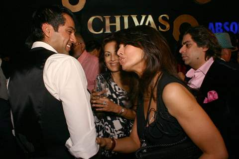 Bollywood actor Abhay Deol and designer Ritu Beri at the Wills Lifestyle India Fashin Week in New Delhi on Sat 24 Oct 09
