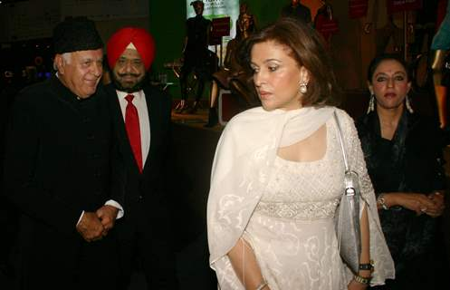 Dr Farooq Abdullah at the Wills Lifestyle India Fashin Week in New Delhi on Sat 24 Oct 09