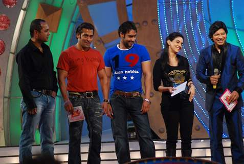 Salman Khan, Ajay Devgan, Asin and Shaan on the sets of Sa Re Ga Ma Little Champs Grand Finale