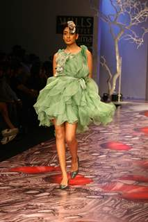 A Model showcasing designer Varun Bahl''s creation at the Wills Lifestyle India Fashion Week in New Delhi on Monday 26 Oct 2009