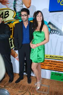 "Bollywood actors Ranbir Kapoor and Katrina Kaif at the sucess bash of his movie ""Ajab Prem Ki Kajab Kahani"" in Novotel"