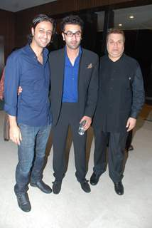 "Bollywood actor Ranbir Kapoor with friends at the sucess bash of his movie ""Ajab Prem Ki Kajab Kahani"" in Novotel"