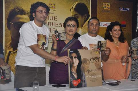 Aparna Sen and Rahul Bose at The Japanese Wife Media meet, Cinemax in Mumbai, on Tuesday afternoon