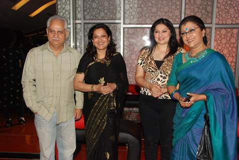 "Director Ramesh Sippy with wife Kiran Juneja and filmmaker Aparna Sen at the premiere of ""The Japanese Wife"" in Mumbai"