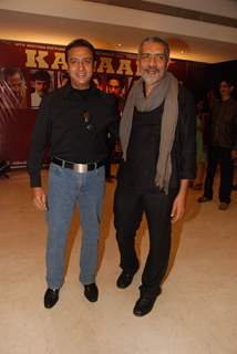 Gulshan Grover and Prakash Jha at Raajneeti film success bash at Novotel