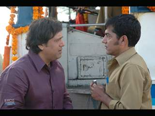 Govinda talking to Asif Basra