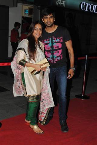 Manish Goel and Poonam Goel at Namrata Gujral's 1 A Minute film on breast cancer premiere PVR
