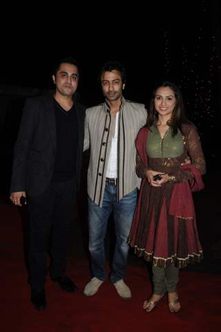 Jatin with wife Priya in Sara-Ali wedding