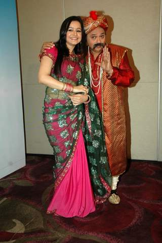 Muskaan and Rakesh at launch of two new shows Ring Wrong Ring and Gili Gili Gappa at Westin Hotel