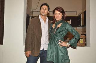 Aryan Vaid and Udita Goswami on the location of Diary of a Butterfly film at Goregaon