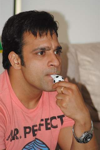 Abhishek Avasthi at Director Anil Sharma hosted the cricket screening at his house