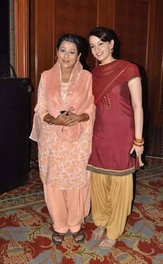 Upasana Shukla and Alka Shlesha at launch of SAB TV serial Ammaji Ki Galli at JW Marriott