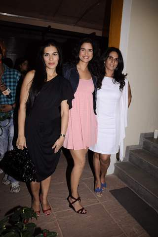Anita with Sushma Reddy and Namrata Shroff at Anita Dongre's Cafe Launch