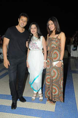 Aryan Vaid, Amy Billimoria and Anjali Pandey at Pre Diwali terrace party