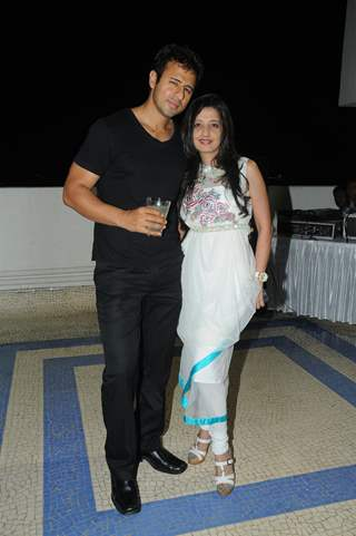 Aryan Vaid with Amy Billimoria at Pre Diwali terrace party