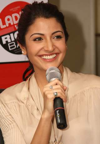 "Anushka Sharma at Reliance Digital to promote her film ""Ladies vs Ricky Bahl"" in New Delhi"