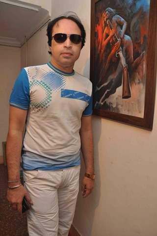 Altaaf Raja promoting upcoming film 'BANDOOK' at a Painting Exhibition