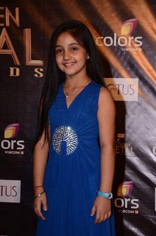 Ashnoor Kaur as Nanhi of Na Bole Tum at Colors Golden Petal Awards Red Carpet Moments
