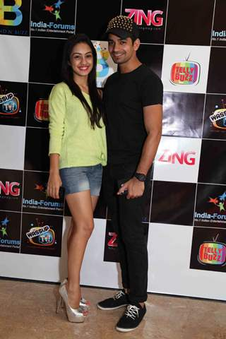 Abigail Jain and Vishal Singh at the celebration of India Forums 9th Anniversary