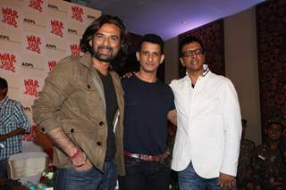Mukul Dev, Sharman Joshi and Javed Jaffrey at Film War Chodd na yaar First look