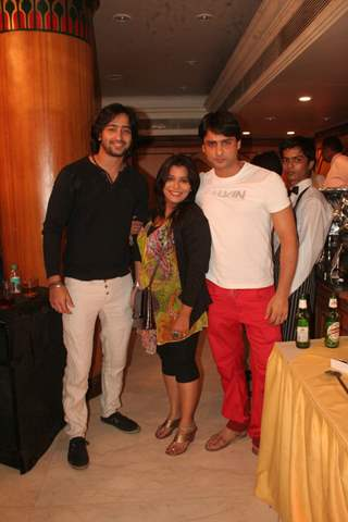 Shaheer Sheikh, Kshiti Jog and Rohit Bhardwaj at Amita Ka Amit hundred episodes party