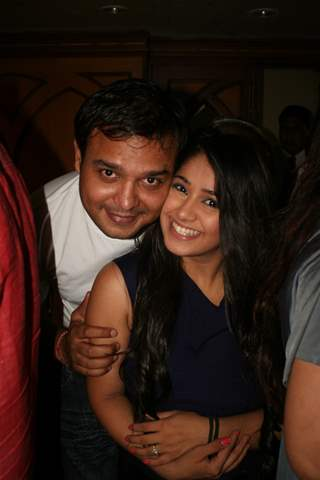 Siddharth Kumar Tewary with Chandni at Amita Ka Amit hundred episodes party