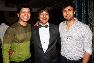 Shaan and Sonu Nigam were at Adesh Shrivastava's Birthday Party