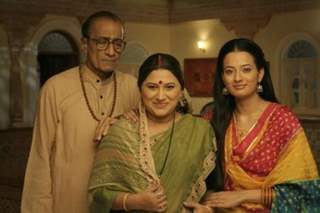 Shraddha with her mother and father