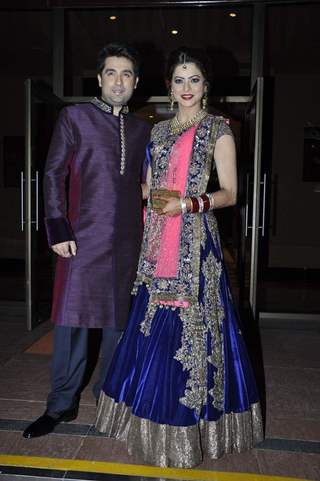 Amna Shariff with her husband at the Wedding Reception