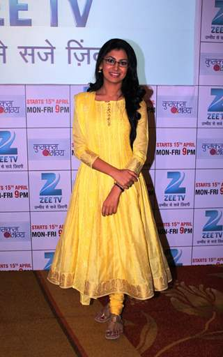 Sriti Jha at the launch of 'Kumkum Bhagya'