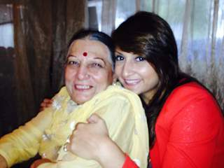 Urvashi Dholakia with her Mom