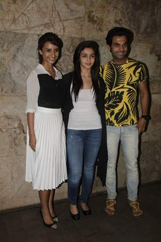 Alia Bhatt, Rajkummar Rao and Patralekha at the Special Screening of Citylights