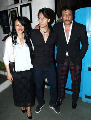 Tiger Shroff with his Parents at Heropanti success party