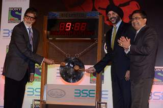 Amitabh Bachchan rings the bell at BSE as Sony TV Launches the promo and poster of 'Yudh'