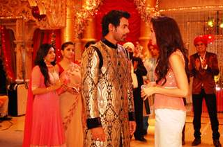 Shabbir and Shraddha in a chat on Kumkum Bhagya