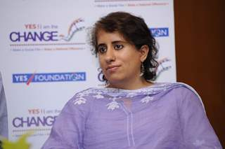 Guneet Monga at the Panel Discussion of YES! i am the CHANGE