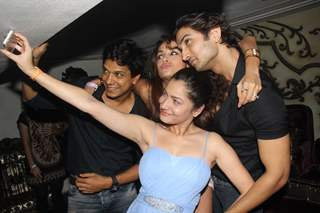 Ankita Lokhande takes on the camera to click a selfie with friends