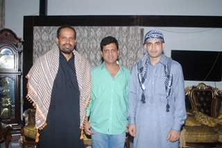 Irfan Pathan and Yusuf Pathan with Film Maker Rajeev Walia