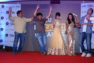 The cast performs at the Music Launch of Meinu Ek Ladki Chaaiye