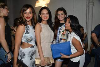 Shveta Salve and Aanchal Kumar with friends at the Launch of NIKHILXKOOVS