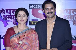 Rohitashv Gaur and Nishigandha Wad at the Red Carpet of Sony Pal Channel