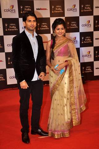 Rahul Sharma and Ishita Dutta was seen at the Indian Telly Awards