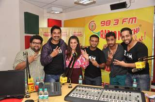 Team poses for the media at the Promotion of the Movie 3AM at Radio Mirchi