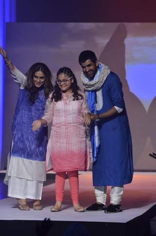 Poonam Narula and Manish Goel walk the Ramp for S.P.J Sadhana School's Fund Raiser Event