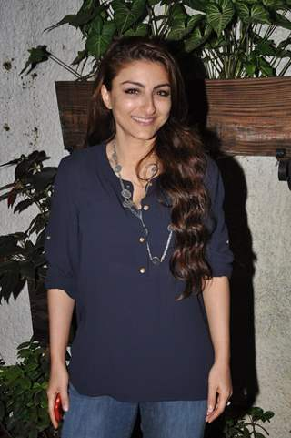 Soha Ali Khan poses for the media at the Premier of 3AM