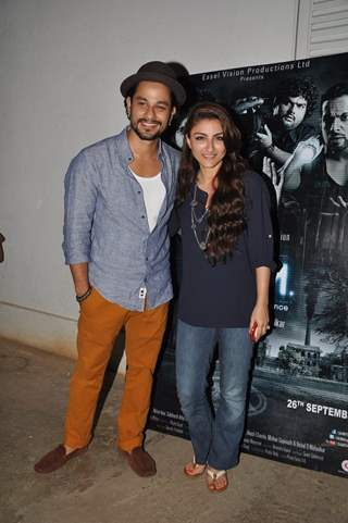 Kunal Khemu poses with Soha Ali Khan at the Premier of 3AM