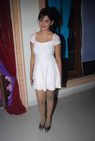 Kanchi Singh poses for the media at Rajan Shahi's Get Together on the set of Itti Si Kushi