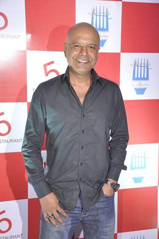 Naved Jaffrey poses for the media at the Launch of Restaurant 5