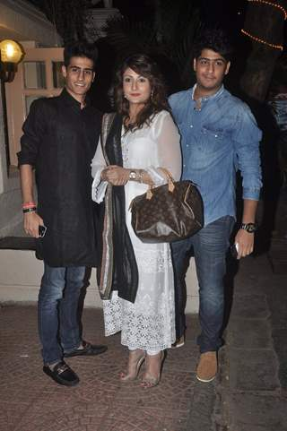 Urvashi Dholakia with her sons were at Ekta Kapoor's Diwali Party
