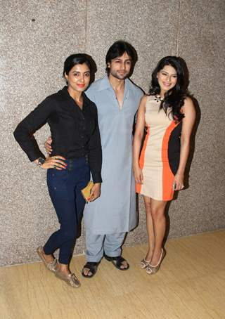 Richa Sony, Shaleen Bhanot and Poonam Preet at a special art preview